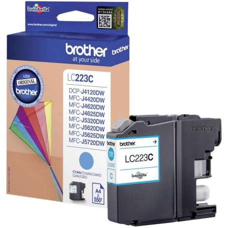 Cartuccia Originale Brother LC 223 Ciano