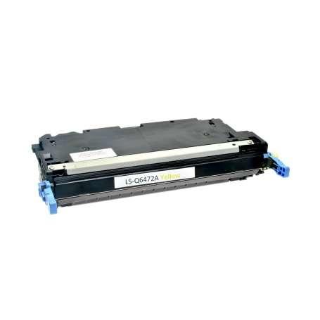 Toner Compatibile Hp 3600, Q6472A Giallo