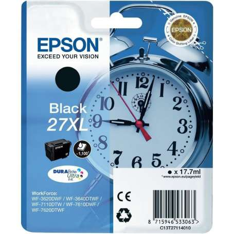 Cartuccia Originale Epson 27XL Nera