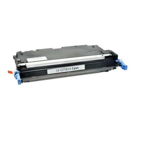 Toner Compatibile Hp CP3505, Q7581A Ciano