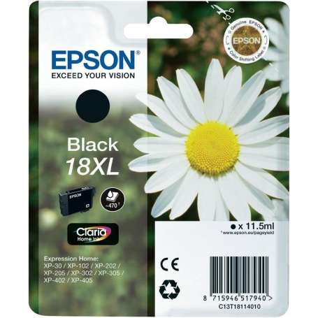 Cartuccia Originale Epson 18XL Nera