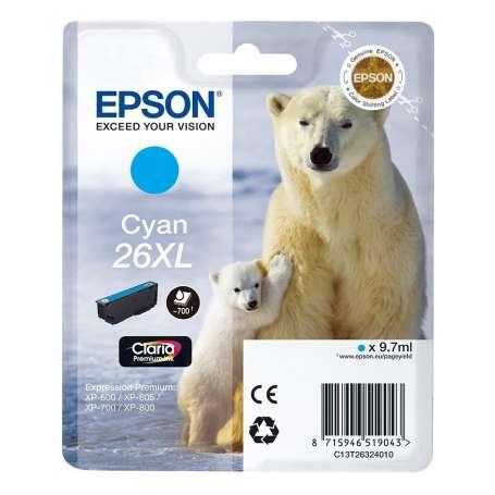 Cartuccia Originale Epson 26XL Ciano