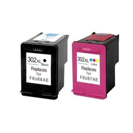 KIT Cartucce Compatibili Rigenerate Hp Nero + Colore 302 XL