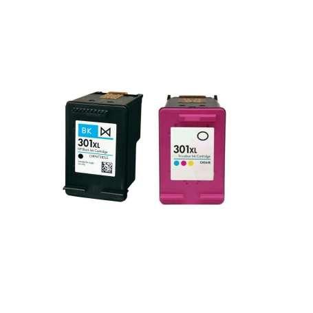 kit Cartucce Compatibili Nero + Colore HP 301 XL