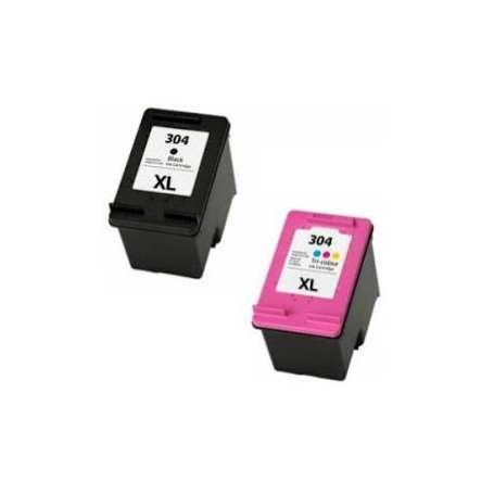 Kit 2 Cartucce Compatibili HP 304XL Black + Color